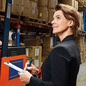 Female manager in a warehouse